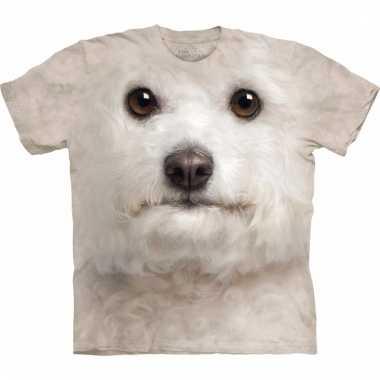 Dieren shirts bichon frise wit