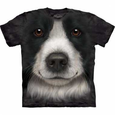 Dieren shirts border collie hond voor kinderen