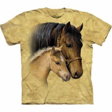 Dieren shirts bruin paard kids