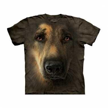 Dieren shirts duitse herdershond voor volwassenen