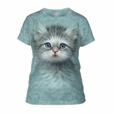 Dieren shirts kitten voor vrouwen
