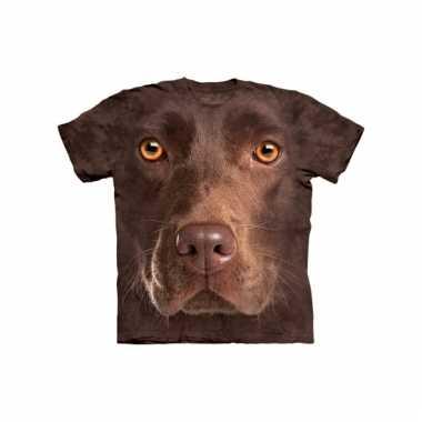 Dieren shirts labrador bruin