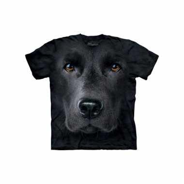 Dieren shirts labrador zwart kids