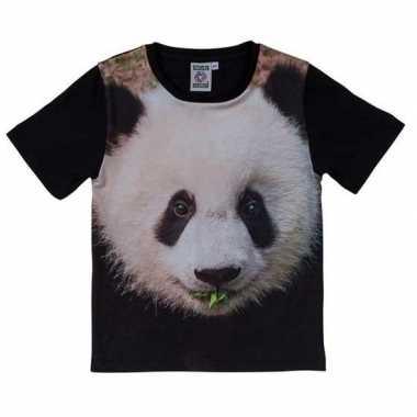Dieren shirts met fotoprint van pandabeer voor kinderen