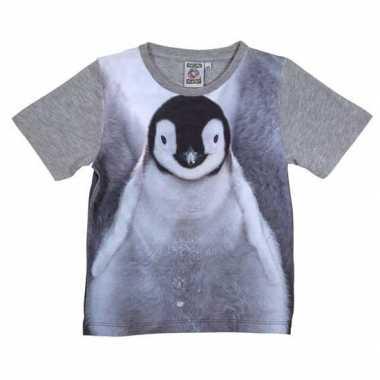 Dieren shirts met fotoprint van pingu?n voor kinderen