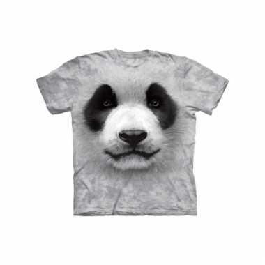Dieren shirts panda zwart wit kids