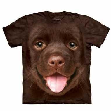 Dieren shirts puppy bruine labrador hond voor kinderen