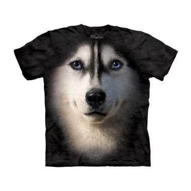 Dieren shirts siberische husky hondshond voor volwassenen