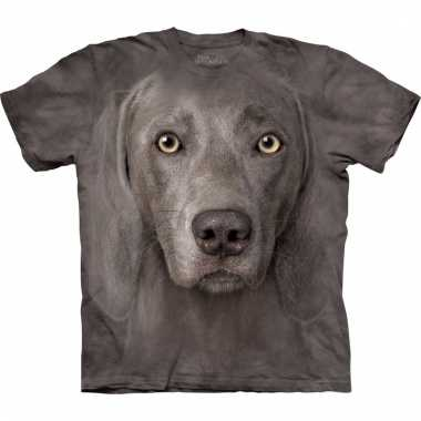 Dieren shirts weimaraner hond voor volwassenen