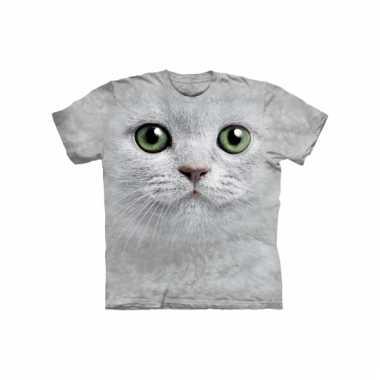 Dieren shirts witte kat kids