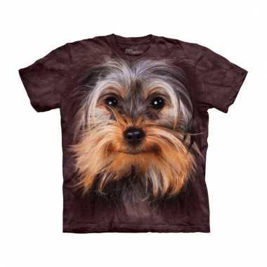 Dieren shirts yorkshire terrier bruin