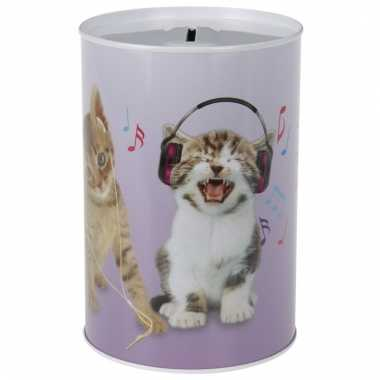Dieren spaarpot katten poezen 15 cm