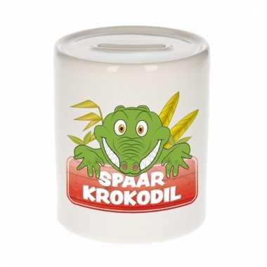 Dieren spaarpot krokodil 9 cm