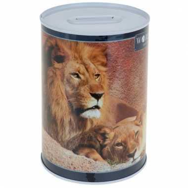 Dieren spaarpot leeuw 15 cm