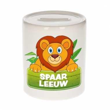 Dieren spaarpot leeuw 9 cm