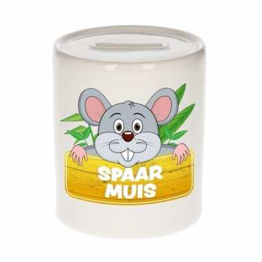 Dieren spaarpot muis 9 cm