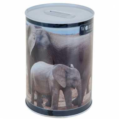 Dieren spaarpot olifant 15 cm