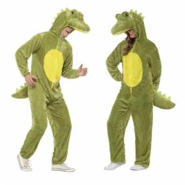 Dieren verkleed jumpsuit onesie krokodil voor kids