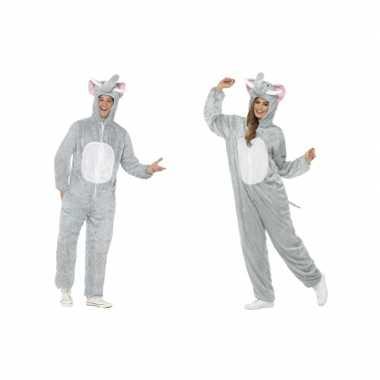 Dieren verkleed jumpsuit onesie olifant voor kids