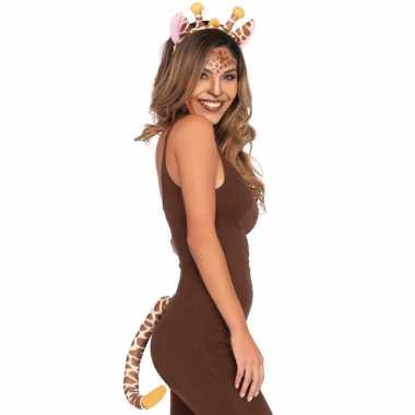 Dieren verkleedset giraffe 2 delig