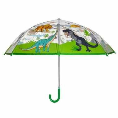 Dinosaurussen kinderparaplu met groen handvat 70 cm