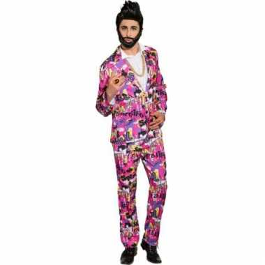 Disco pak roze voor mannen