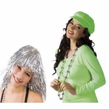 Disco verkleedsetje zilver voor dames