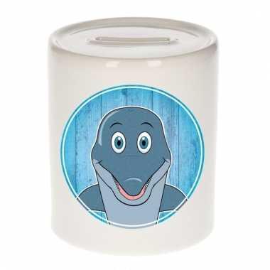 Dolfijnen spaarpot van keramiek 9 cm