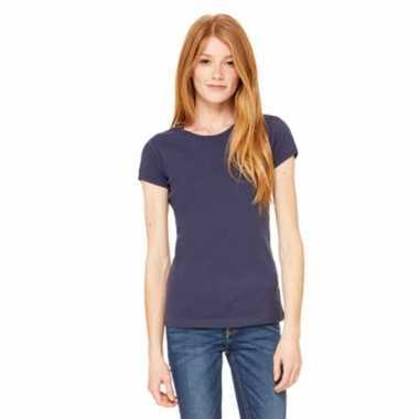 Donkerblauw dames t-shirtjes hanna ronde hals