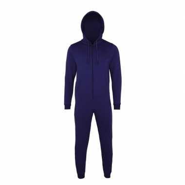 Donkerblauwe jumpsuit all-in-one voor heren