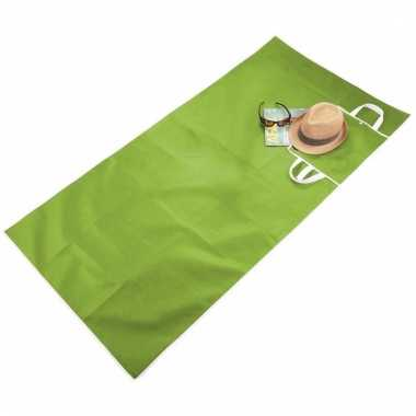 Draagbare strandmat groen