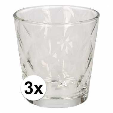 Drinkglazen set ruit motief 240 ml 3 stuks