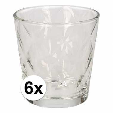 Drinkglazen set ruit motief 240 ml 6 stuks