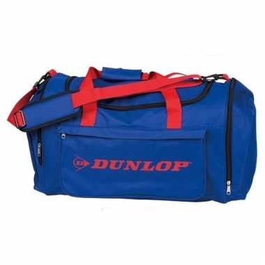 Dunlop weekendtassen blauw met rood
