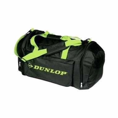Dunlop weekendtassen zwart met groen