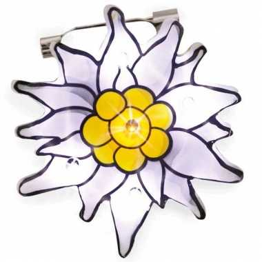 Edelweiss broches met licht