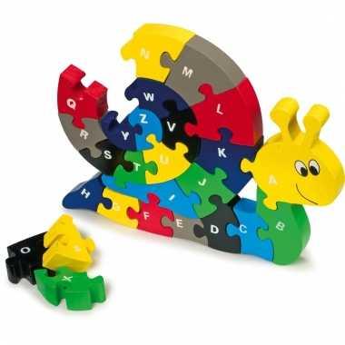 Educatieve puzzel in de vorm van een slak