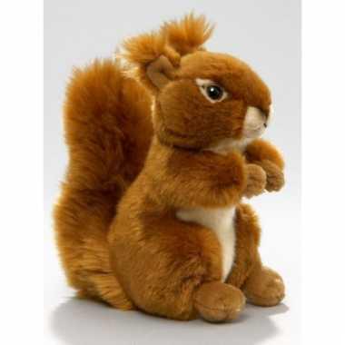 Eekhoorn pluche knuffel zittend/liggend 17cm