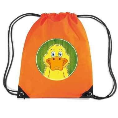 Eenden rugtas / gymtas oranje voor kinderen