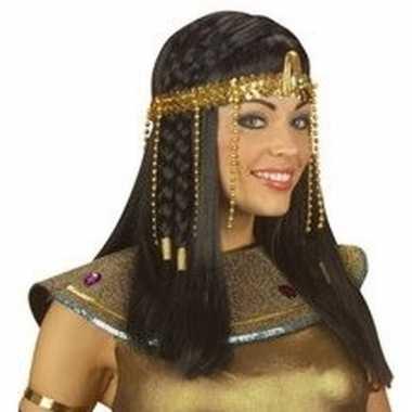 Egyptische prinses haarband gouden pailetten