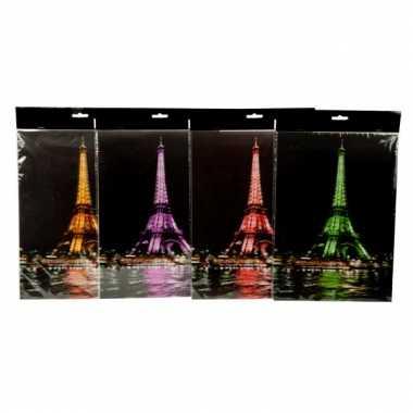 Eiffeltoren sticker gekleurd