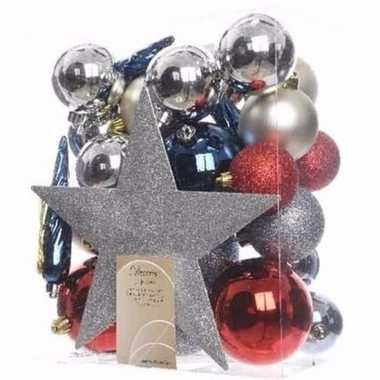 Elegant christmas complete kerstversiering pakket 33 stuks