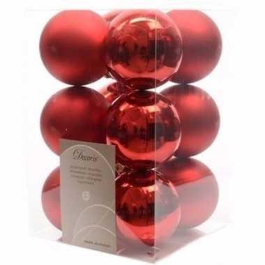 Elegant christmas rode kerstversiering kerstballen pakket 12 stuks