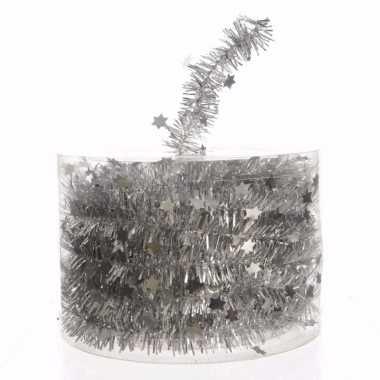 Elegant christmas zilveren kerstversiering sterren folieslinger 700 c