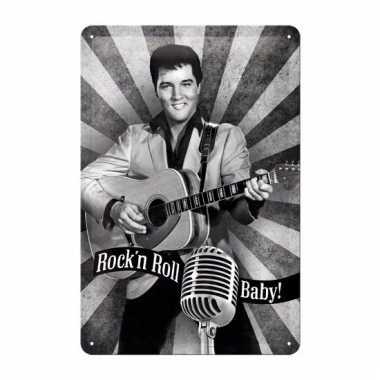 Elvis presley decoratie muurdecoratie rock n roll baby 20 x 30 c