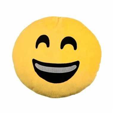 Emoticons sierkussen lachend 30 cm