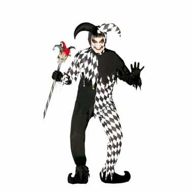 Enge harlekijn clownspakken voor heren