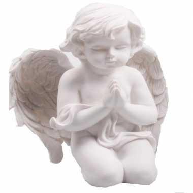 Engelen beeld biddend 22 cm