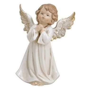 Engelen figuur wit biddend 9 cm
