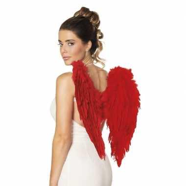 Engelen vleugels rood 50 cm